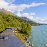 Paisagem entre Seward e Anchorage pela Alaska Railroad
