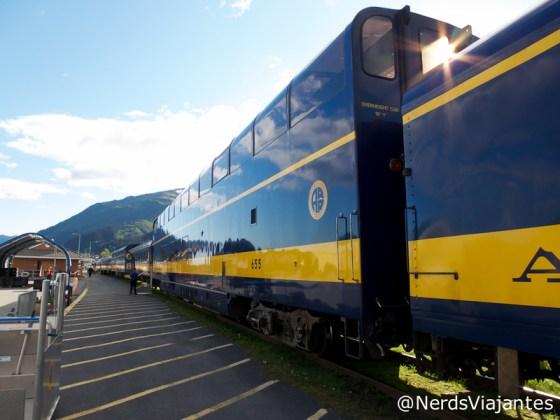 Trem na estação de Seward