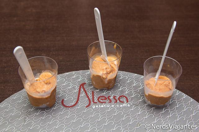 Sorvetes de Doce de leite, Doce de Leite Alessa e Pé de Moleque da Alessa Gelato em Belo Horizonte
