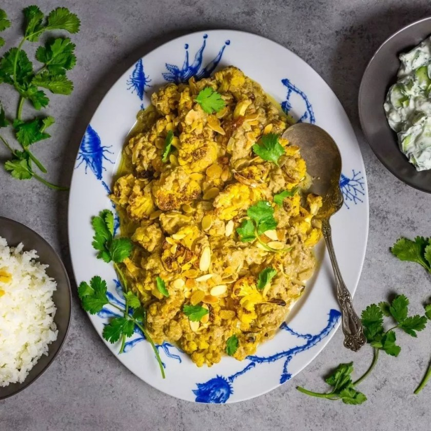 Mughlai Cauliflower (in a Creamy Almond Curry Sauce)