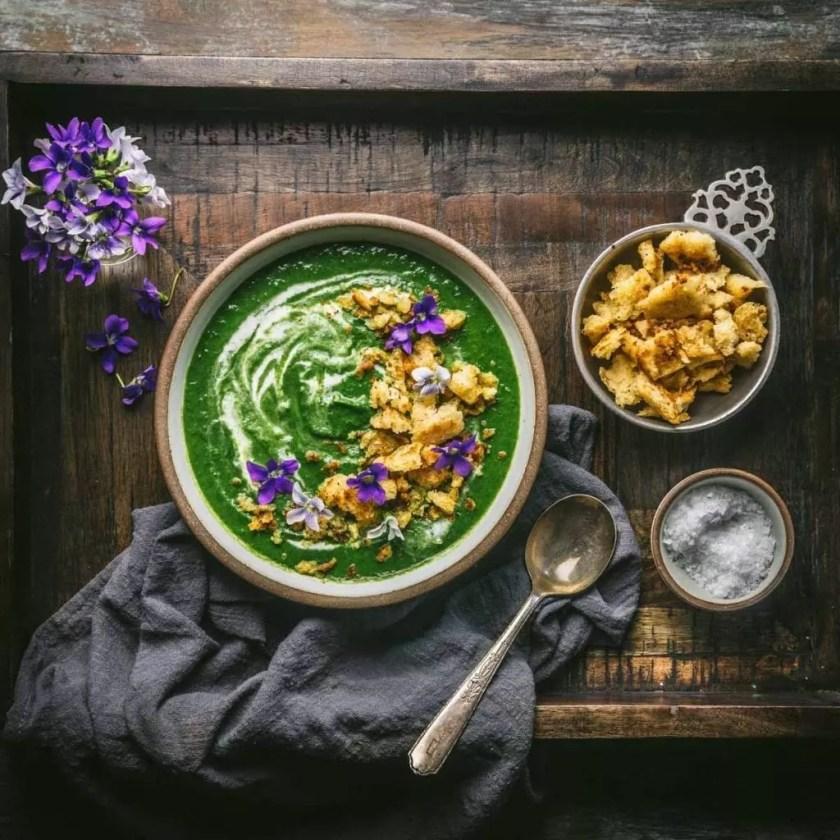 Nettle, Leek and Potato Soup