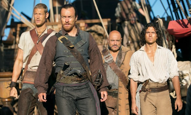 TOM HOPPER, TOBY STEPHENS, MARK RYAN & LUKE ARNOLD Character(s): Billy Bones, Captain Flint, Gates, John Silver Television 'BLACK SAILS' (2014) Directed By AHARON KESHALES, N PAPUSHADO 01 March 2014 SAG25337 Allstar Collection/STARZ! **WARNING** This photograph can only be reproduced by publications in conjunction with the promotion of the above TV Programme. A Mandatory Credit To STARZ! is Required. For Printed Editorial Use Only, NO online or internet use.