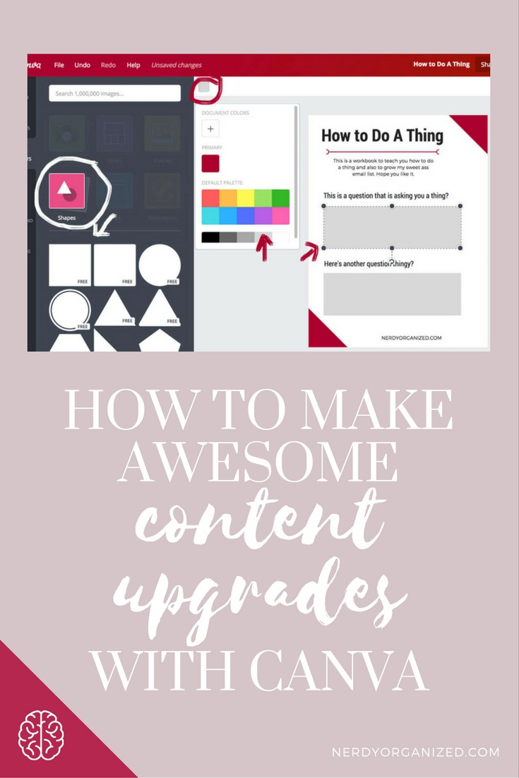 How to Make Awesome Content Upgrades with Canva