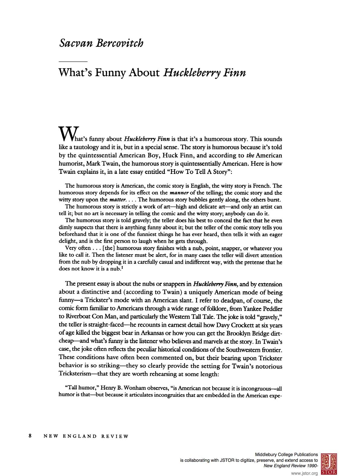 Huckleberry Finn Essay Huckleberry Finn Essay The