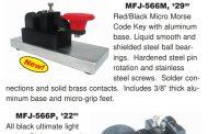 Introducing . . . New MFJ CWMorse Micro Telegraph Keys