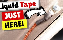 Water Protection with Liquid Tape for Ham Radio Mobiles