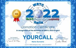 WRTC 2022 Donor Certificate