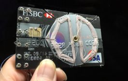 Credit card chip used to make crystal radio