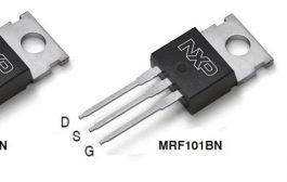 MRF101AN: 100 W CW over 1.8-250 MHz, 50 V Wideband RF Power LDMOS Transistor