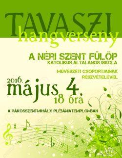 Tavaszi templomi koncert (május 4. 18.00)