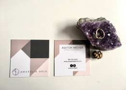 Business Cards design for Amarylin in Edmonton