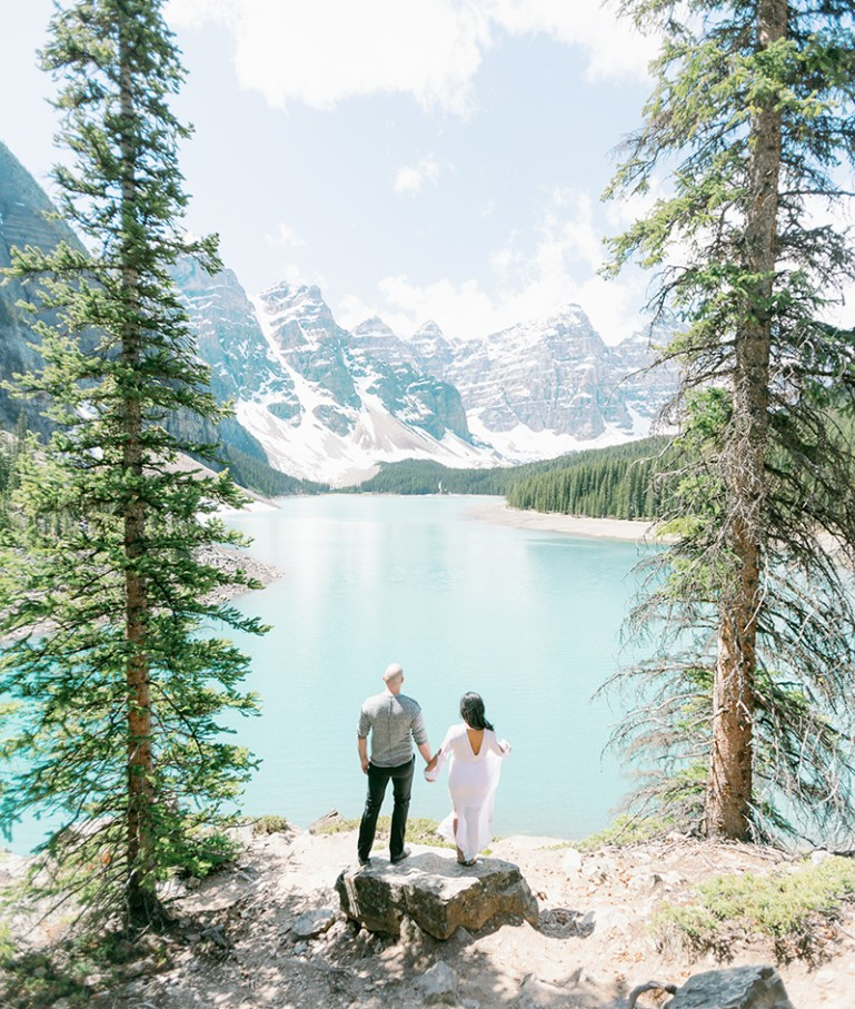 Moraine Lake Engagement Photo