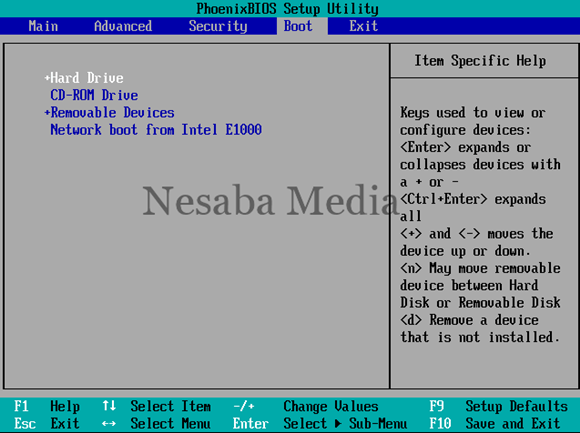 setting first boot