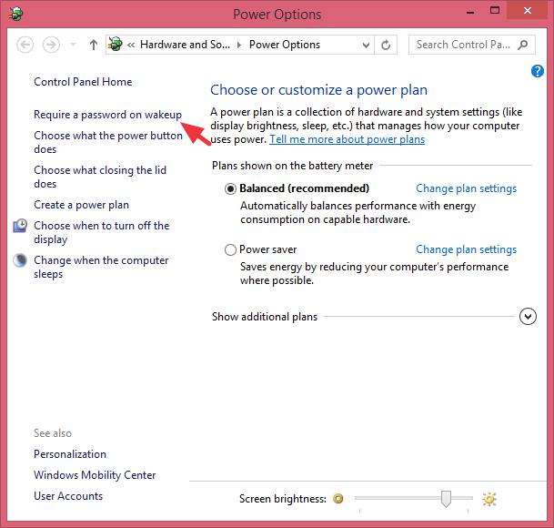 cara mengaktifkan mode hibernate pada windows 8
