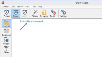 folder password