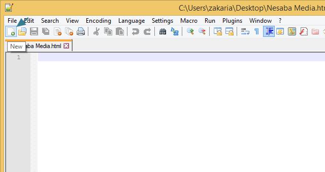 Membuat dokumen HTML baru