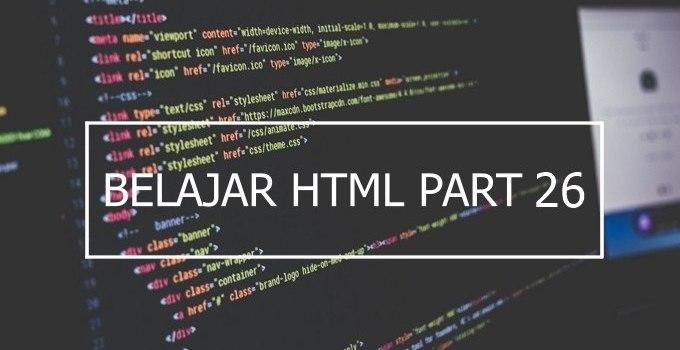 penggunaan atribut align dan valign pada tabel HTML