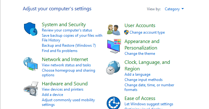 4 Cara Membuka Control Panel Di Windows 10 Lengkap Gambar