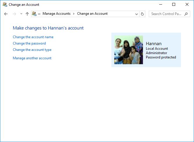cek, nama pengguna sudah berhasil dirubah