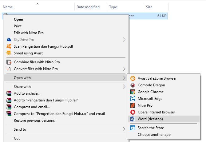 tutorial cara mengubah pdf ke word