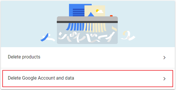 pilih Delete Google Account and data