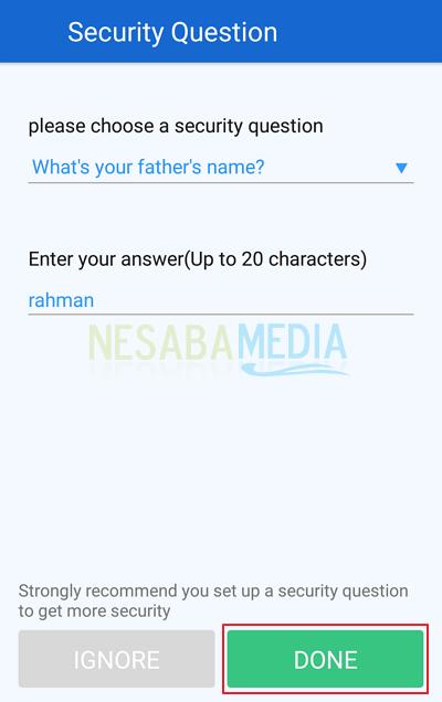 kunci aplikasi android