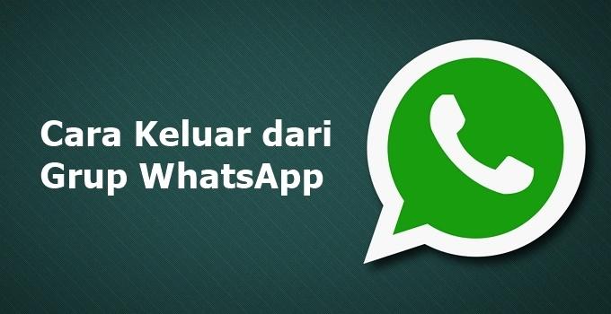 cara keluar dari grup whatsapp