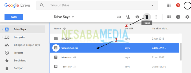 how to delete files in google drive
