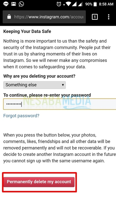 2 how to disable temporary permanent instagram 2018 edition after you enter the reason and password click the permanently delete my account button red click button delete ccuart Image collections