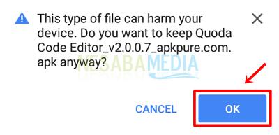 Step 4 - click ok