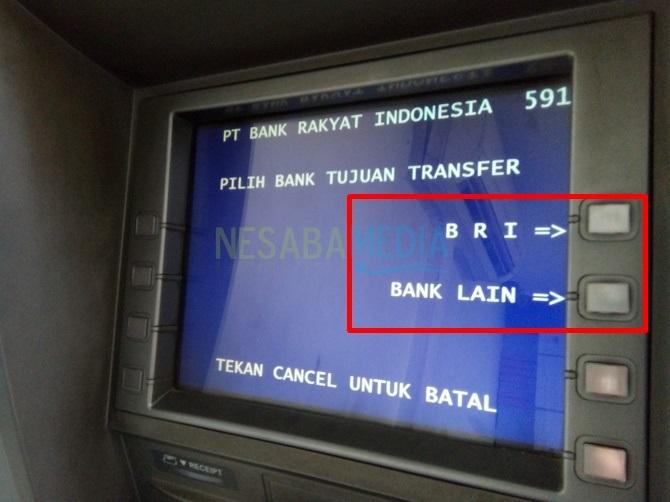 cara transfer uang lewat atm bri ke bri