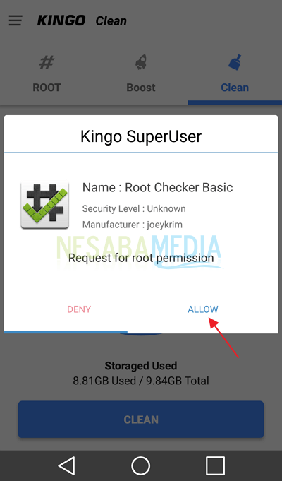 Langkah 9 - root android