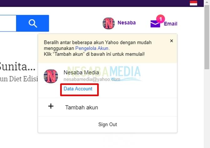 klik data account