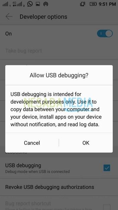 USB Debuggin ON 1