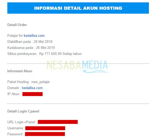 cpanel login information