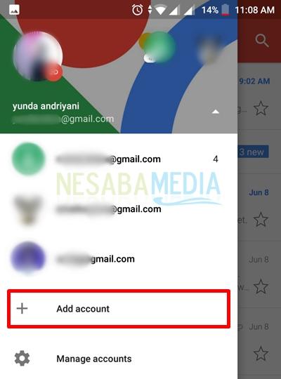 select add account