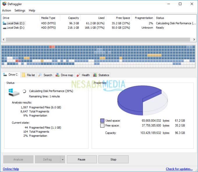 cara defrag laptop windows 10 dengan deflagger