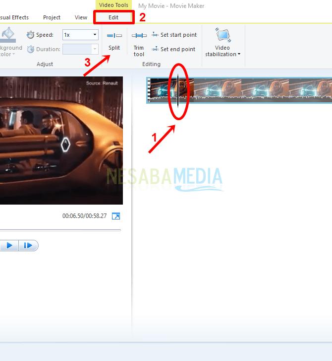 cara memotong video di movie maker