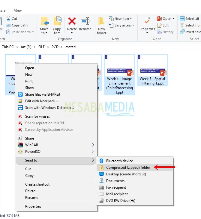 2 Cara Membuat File Rar Zip Di Windows Lengkap Gambar