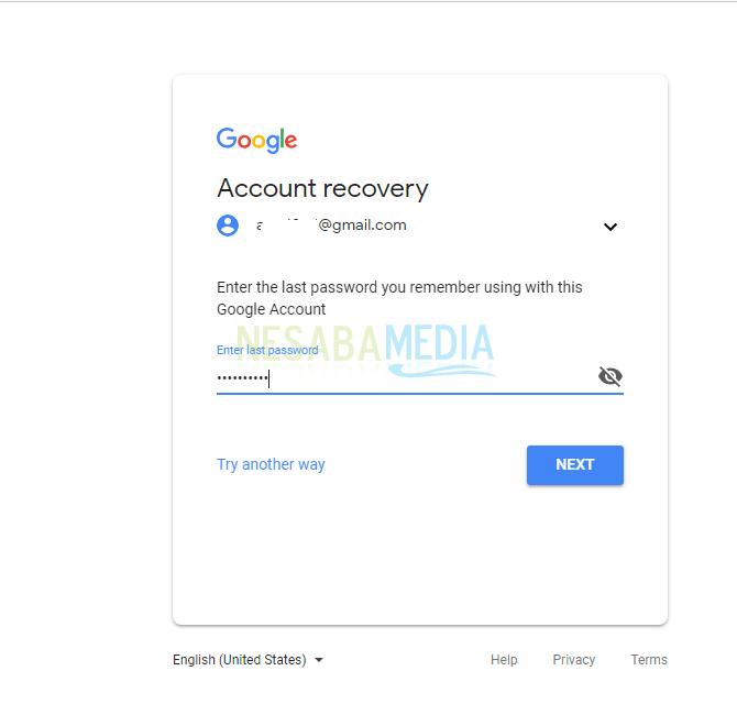 lupa kata sandi akun google sendiri