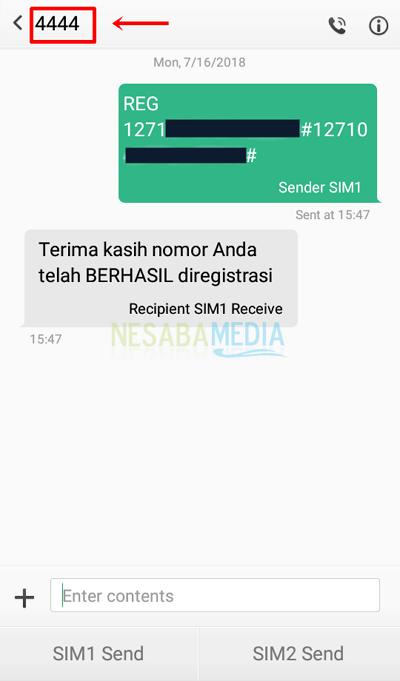 cara registrasi ulang kartu telkomsel lewat SMS