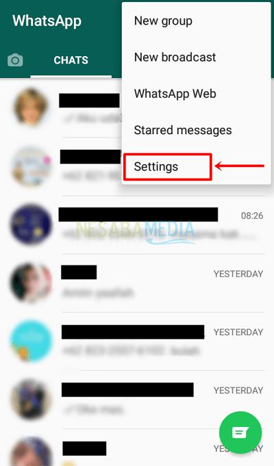 2 - pilih settings