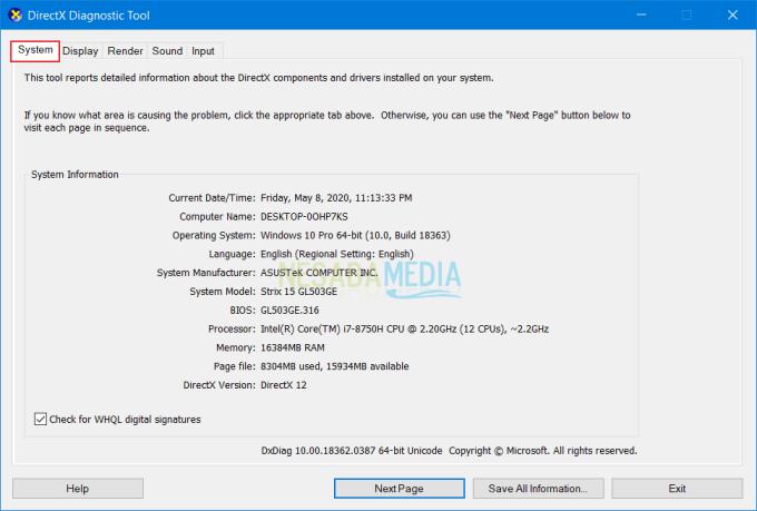 Melihat Spesifikasi Laptop 2