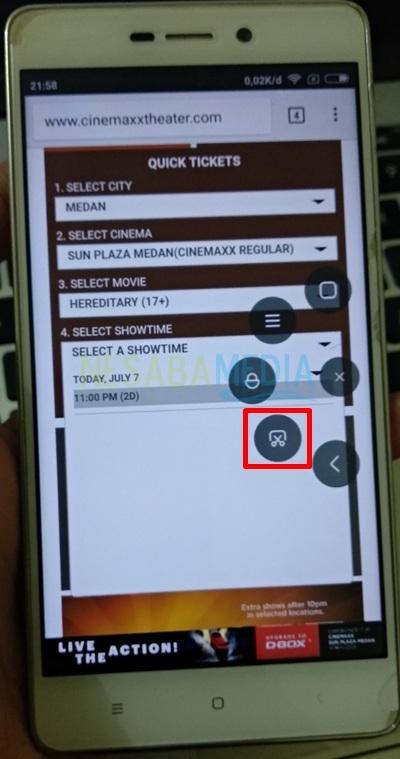 select screenshot