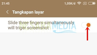 enable three finger to ss