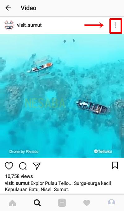 cara repost video di instagram