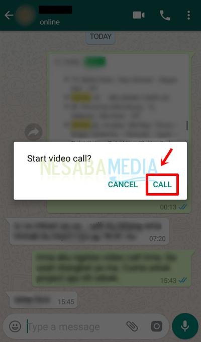4 - pilih call