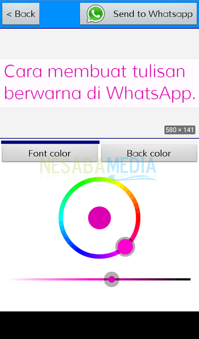 how to make colored writing on whatsapp