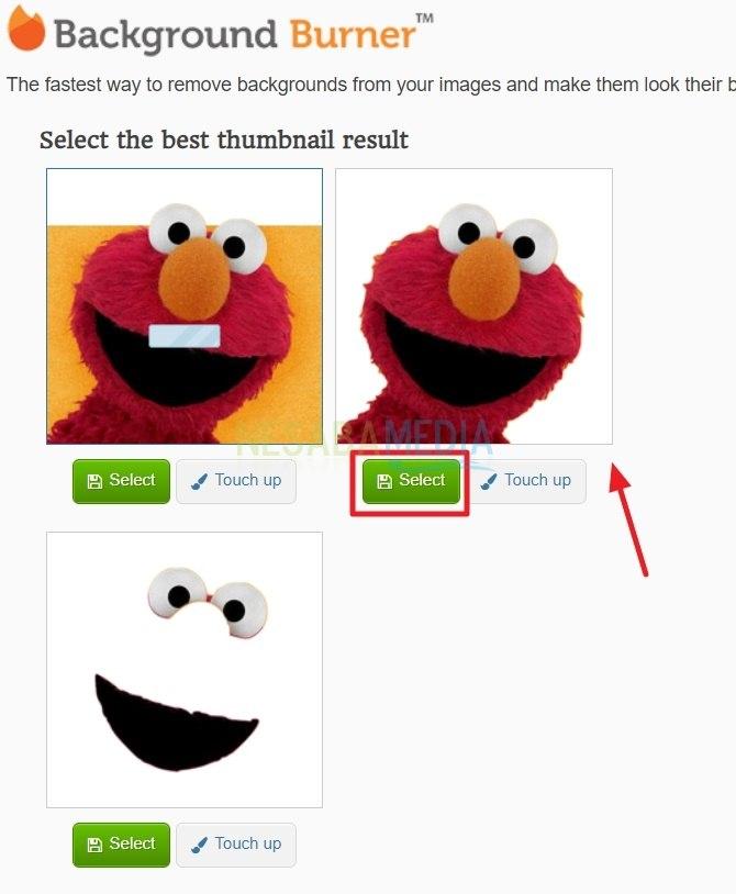 klik Select