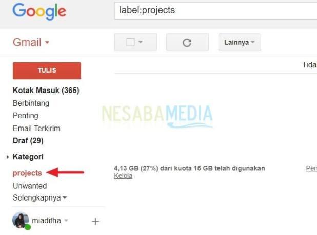 folder or label